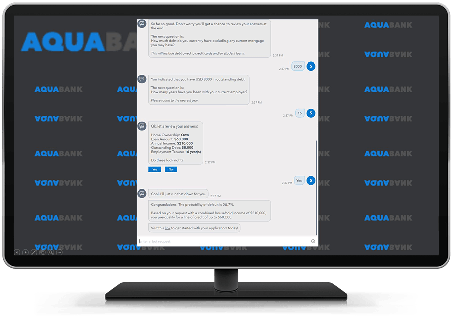 SAS Conversation Designer shown on desktop monitor