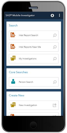 SAS® Mobile Investigator - home page