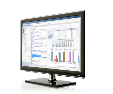 SAS In-Memory Statistics Shown on Desktop Monitor
