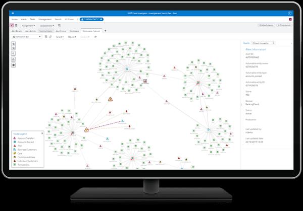SAS Visual Investigator - network view