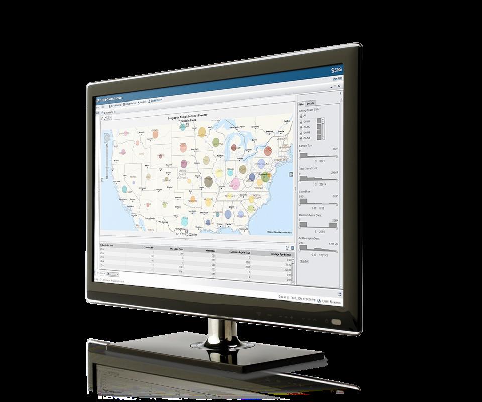Field Quality Analytics Screenshot on Monitor