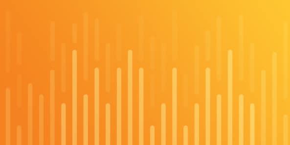 Orange to yellow gradient with bar chart illustration