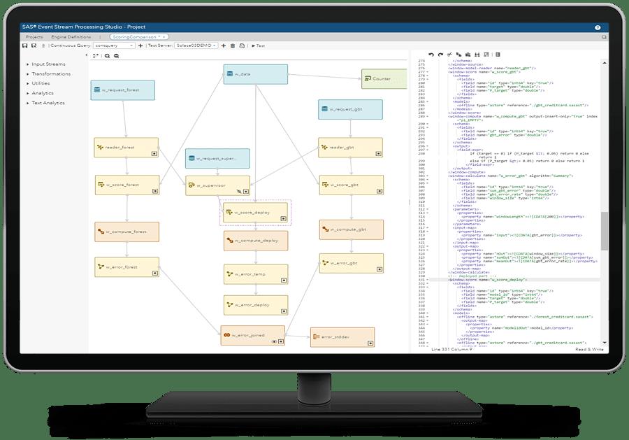 SAS® Event Stream Processing - design interface