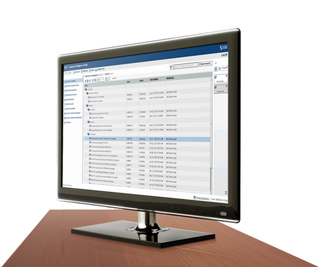 SAS Marketing Automation shown on desktop monitor