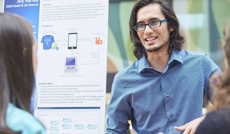 SAS Intern presenting work at Intern Expo