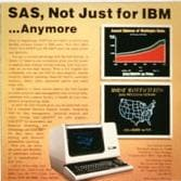 First SAS ad appears in Datamation