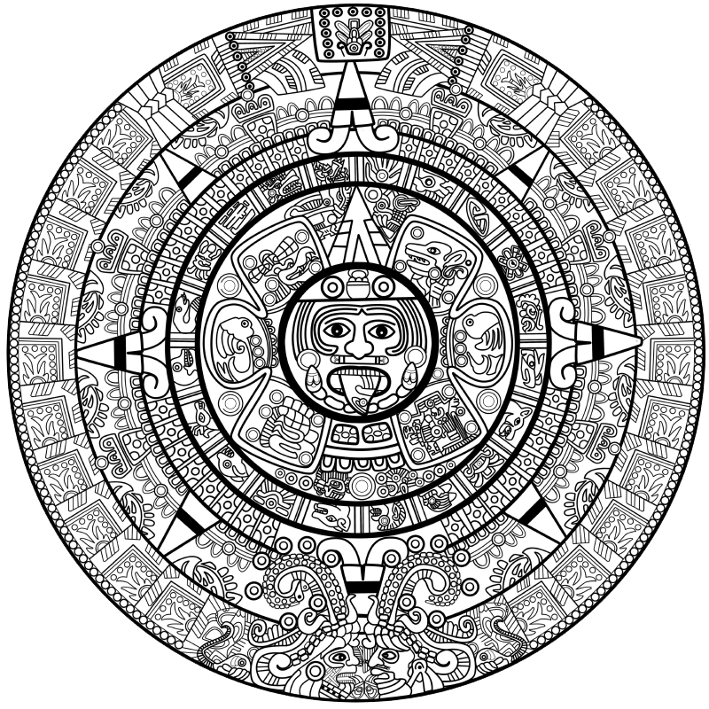 Maya Calendar Graphic