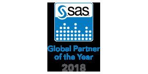 SAS 2018 Global Partner of the Year badge