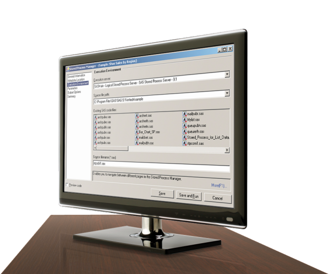 SAS Integration Technologies shown on desktop monitor
