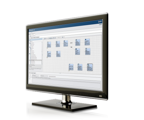 SAS Data Management screenshot on monitor