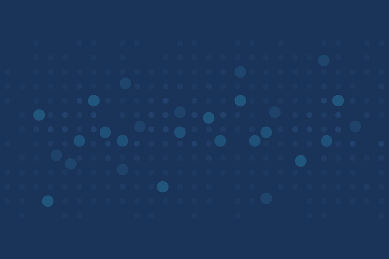 Abstract data visualization art variation on midnight blue