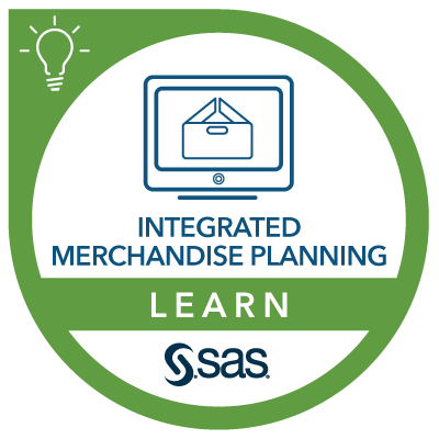 SAS Learn Badge for Merchandise Planning