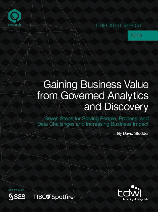 Gaining Business Value from Governed Analytics and Discovery Whitepaper