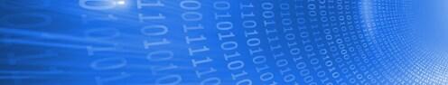 Glowing futuristic binary code spiral