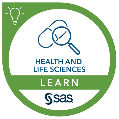 SAS Learn Badge for Health and Life Science