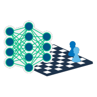 Chess board and Neural Network graphic