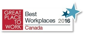 Logo: Great Place to Work: Best Workplaces 2016 Canada