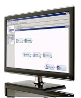 SAS Text Miner shown on desktop monitor
