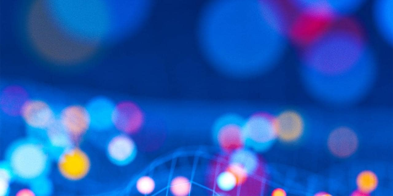 Abstract art with graphs and bokeh lights