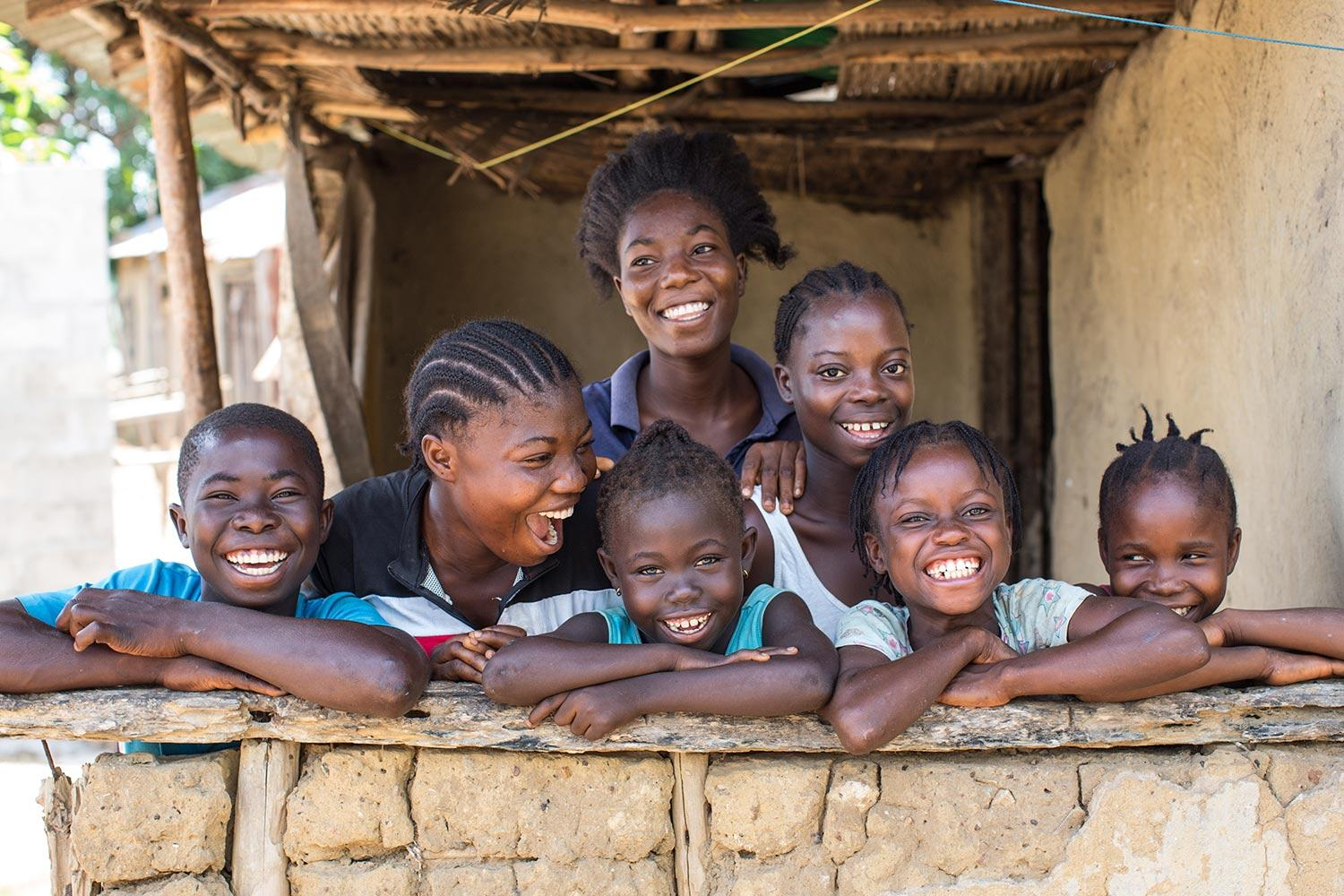 Group of Kids Smiling in Liberia