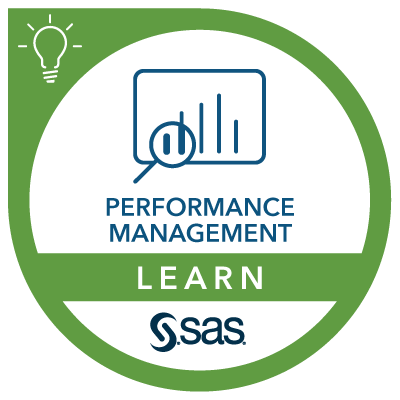 SAS Learn Badge for Performance Management