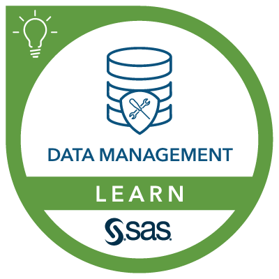 SAS Learn Badge for Data Management