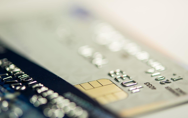Close up credit cards