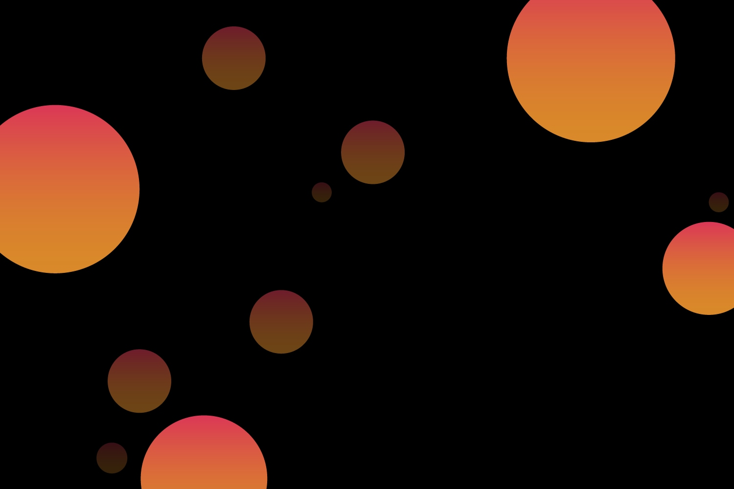 Red and orange gradient circle pattern on black background