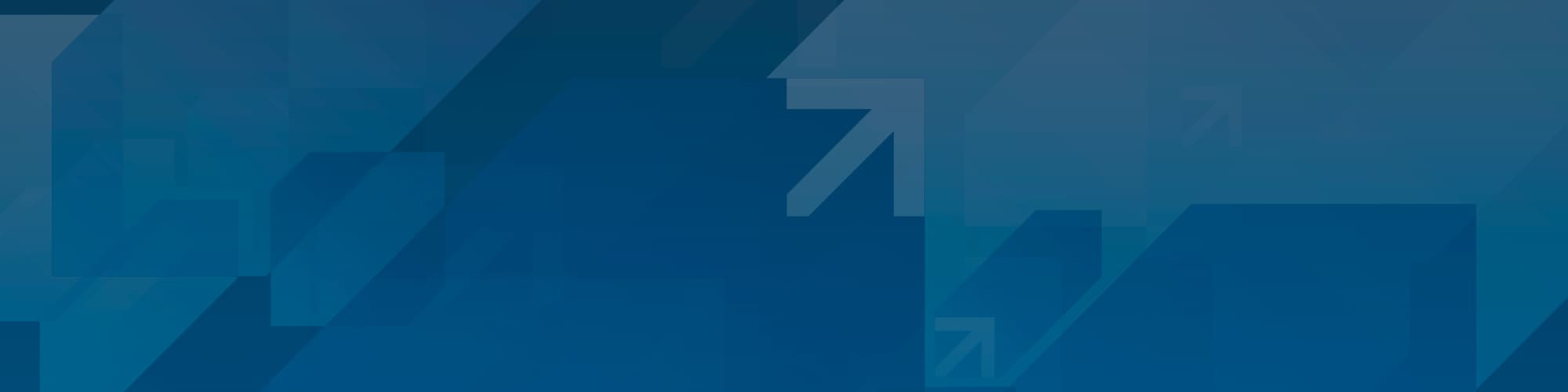 A series of blue abstract arrows in diagonally position