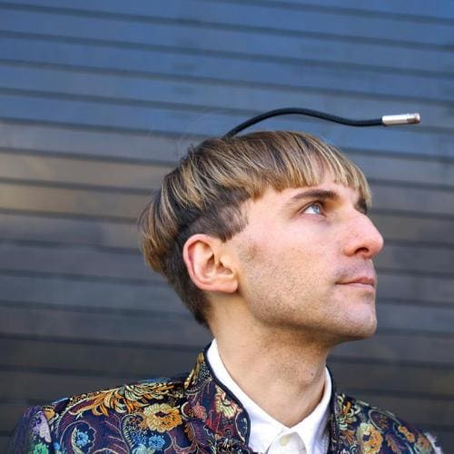 Neil Harbisson portrait external location