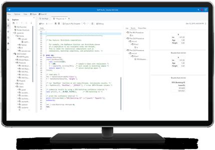 SAS IML Bootstrap shown on desktop monitor