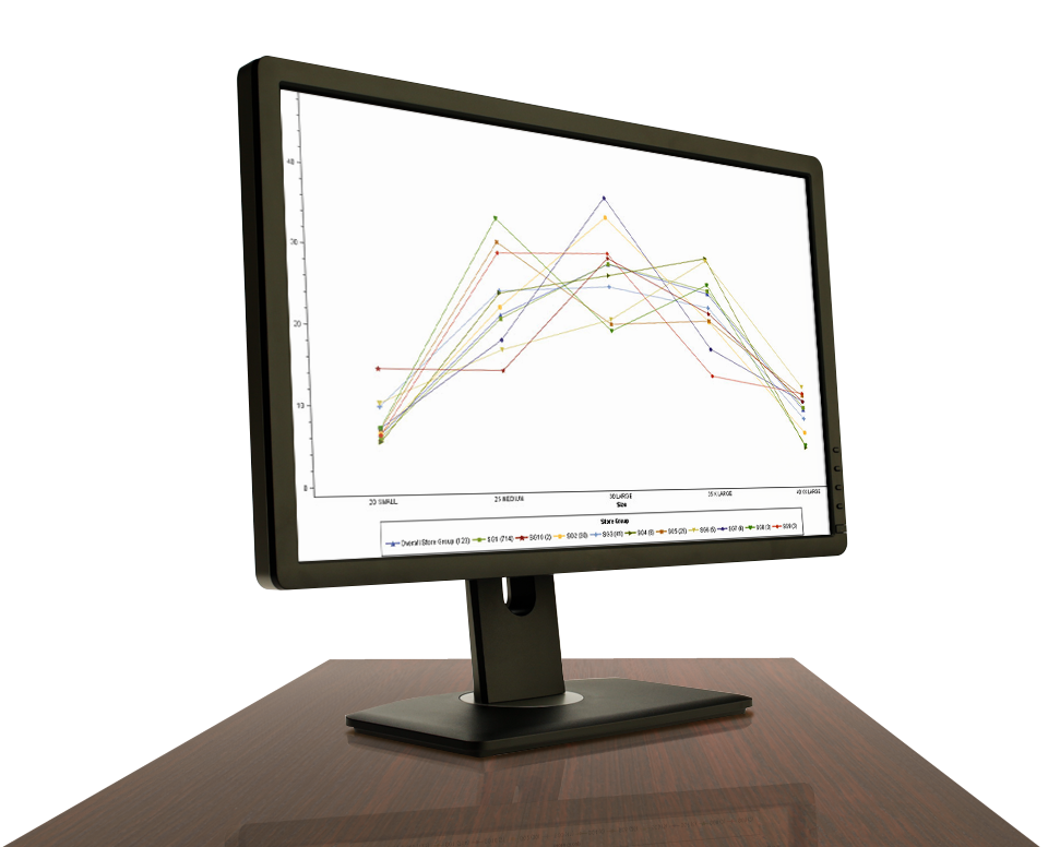 SAS Size Optimization Shown on Desktop Monitor