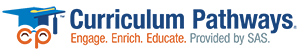 Curriculum Pathways logo with Provided by SAS tagline