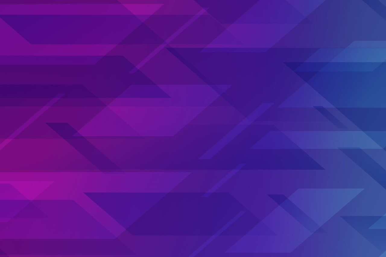 Purple Violet and Teal Overlapping Triangles Abstract Art