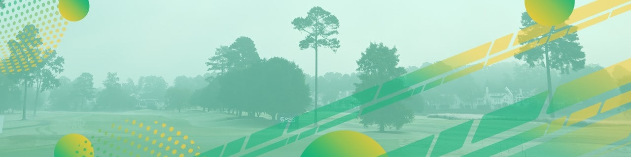 Green Golf Course with Yellow Green Gradient Circles
