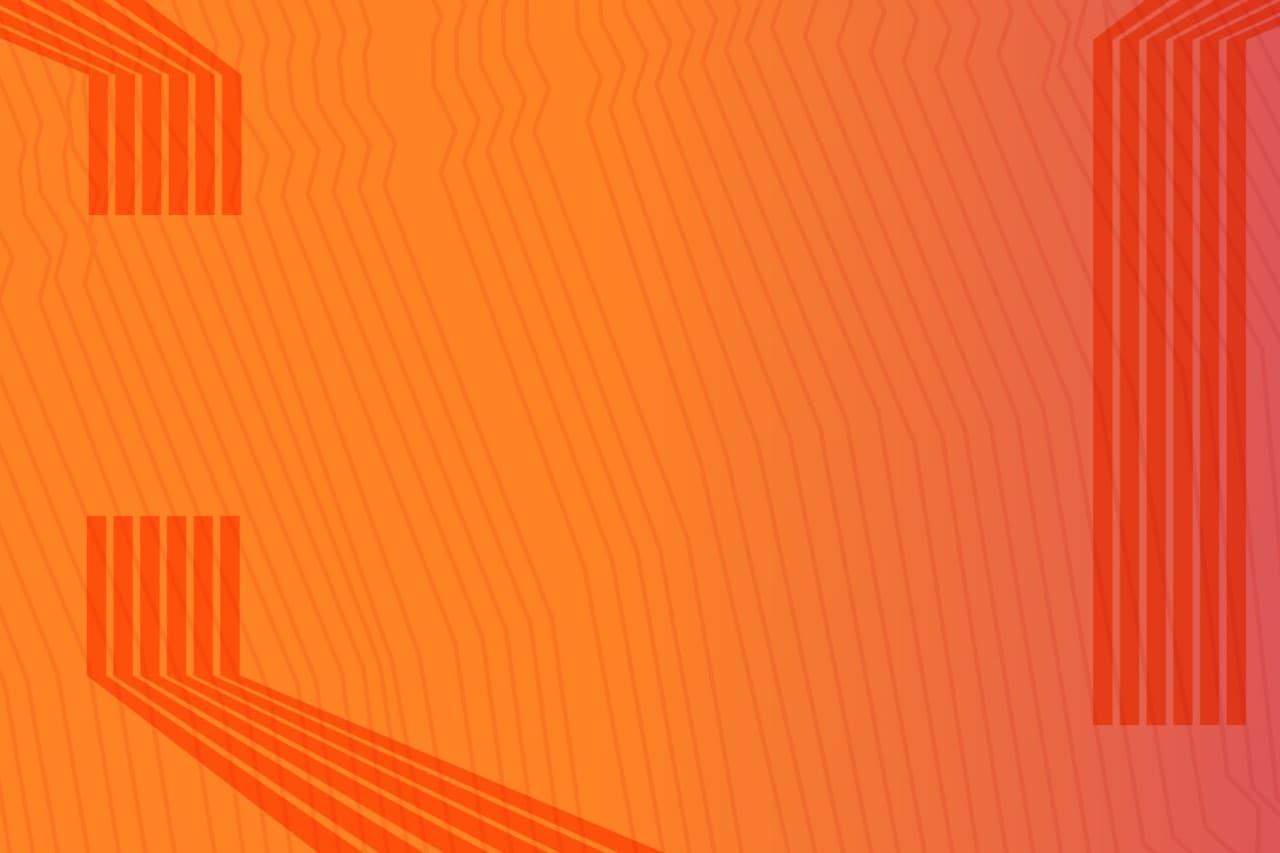 Orange background with dark orange vertical lines and no codes