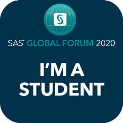 sas global forum im a student social badge