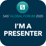 sas global forum im a presenter social badge