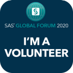 sas global forum im a volunteer social badge