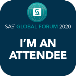 sas global forum I'm an attendee social badge