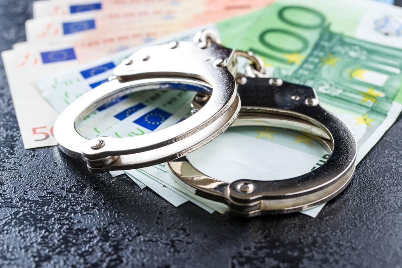 Handcuffs on Euros