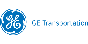 GE Transportation logo in blue