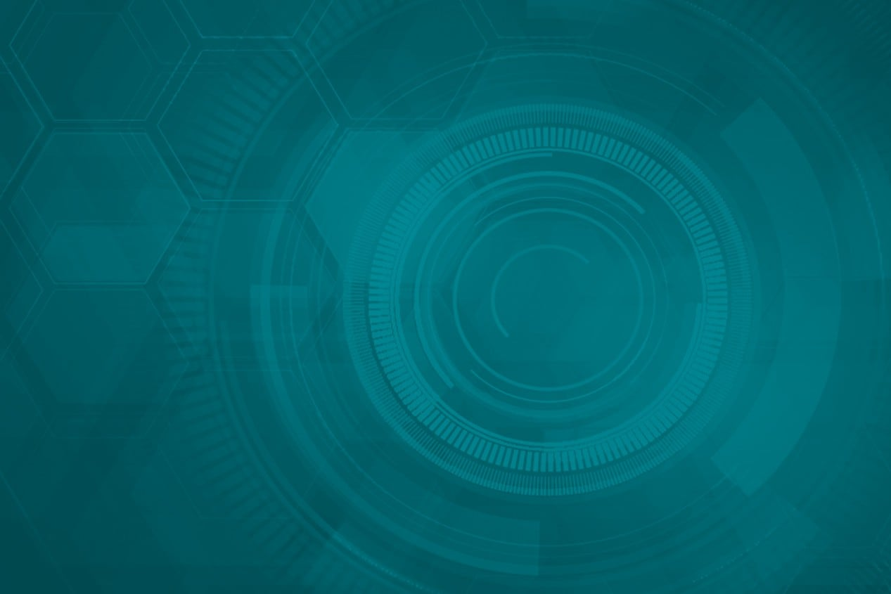 Teal Abstract Honeycomb Background Art