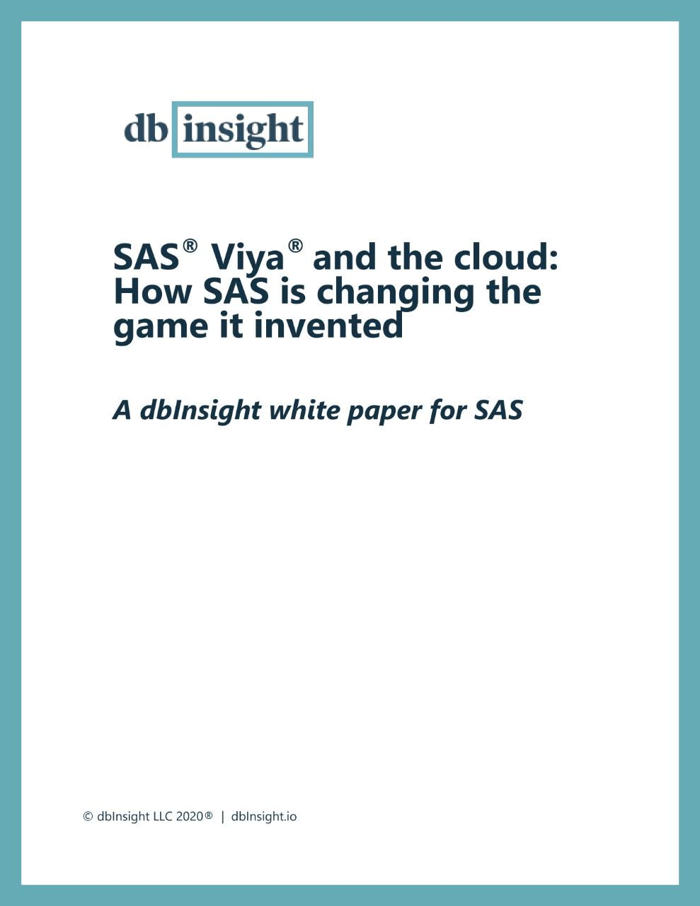 SAS® Viya® and the cloud: How SAS is changing the game it invented