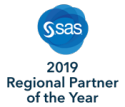 SAS® 2019 Regional Partner of the Year badge