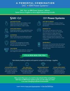 SAS and IBM Infographic