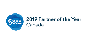 SAS® 2019 Partner of the Year badge for Canada