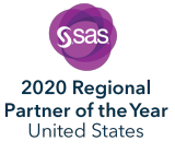 SAS 2020 Partner of the Year for the United States, vertical format, dark text