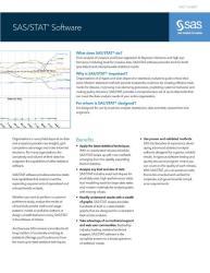 SAS/STAT Fact Sheet thumbnail
