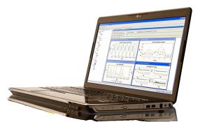 SAS Forecast Server shown on laptop